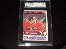 KEN DRYDEN AUTOGRAPHED 1977-78 TOPPS CARD-SGC SLAB-ENCAPSULATED