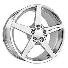 CHEVROLET CORVETTE Wheel Decals Set of 4 ZO6 ZR1 Grand Sport C6 C5 Racing Black