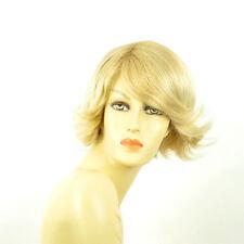 Perruque femme courte blond doré méché blond très clair  EDWIGE 24BT613