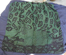 Leopard Silk & Cotton Mix Printed Scarf / Wall Hanging - BNWT