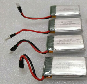 4 PACK - LiPo Drone Battery 3.7V 800mAh 25C - Immediate Shipping from USA