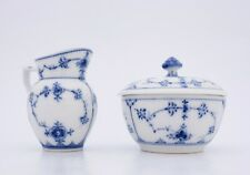 Blue Fluted #239, #59 - Royal Copenhagen - Sugarbowl & Creamer - 1:st Quality