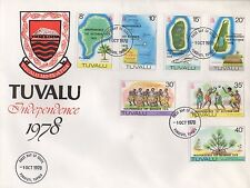 TUVALU INDEPENDENCE 1st OCTOBER 1978 FIRST DAY COVER FDC STAMPS