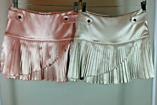 0 Set of 2 Skirts Pink Champagne Metallic Women Arden B.NWT New Pleated Wrap