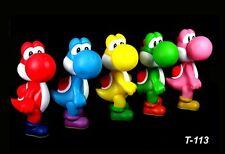 5 Colors Super Mario Bros Yoshi Dinosaur PVC Action Figure Figurine Kids Toy 5''