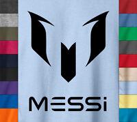 MESSI Logo T-Shirt Argentina FC Barcelona Lionel Fan Gear Jersey - Ringspun Tee