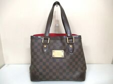 Authentic LOUIS VUITTON Damier Hampstead PM N51025 Ebene Tote Bag MI4087