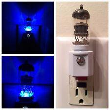 12AX7 Style BLUE Vacuum Tube LED NIGHT LIGHT Ham Radio TV Guitar Amplifier