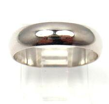 Cartier Platinum 5mm Wedding Wide Band Ring 6g sz 7.5