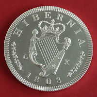 IRELAND GEORGE III 1808 SILVER PROOF PATTERN CROWN MINTAGE 150 - coa
