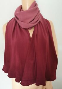 Marks and Spencer Two Tone Berry Long Rectangle Warm Scarf