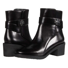Tory Burch 55 mm Kira Bootie Women's Classic Leather Boots Round Toe Black