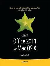 Hart-Davis, Guy, Learn Office 2011 for Mac OS X, Very Good Book