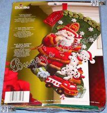 Bucilla FIREMAN SANTA Stocking Felt Applique Christmas Kit - Dalmatian - 86107