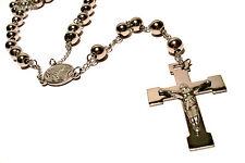 ROSENKRANZ KETTE EDELSTAHL UNISEX HOCHGLANZPOLIERT SILBERFARBEN RELIGI�–S MASSIV