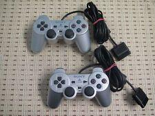 2x Original Sony Dualschock 2 Controller silber PS2 Playstation 2 Guter Zustand