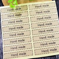 Hand-Made/Thanks Kraft Paper Bag Gift-Case Seal Sticker Label Wedding Envelope