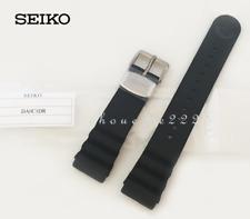 GENUINE SEIKO DA0C1DR 22MM BLACK RUBBER STRAP FOR MARINE MASTER TUNA CAN SBBN017