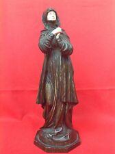 CAPODIMONTE Nonne en prière Porcelaine XIXe style chryséléphantine GRAND modèle