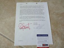 Rod Stewart RARE Signed Autograph 12 Page 1978 Publishing Contract PSA Certified