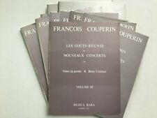 Noten. Couperin. Les Gouts-Reunis or Noveaux Concerts. Vol. I–III. Part. & St.