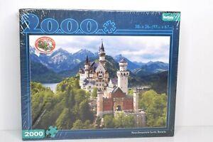"""Buffalo Games 2000 Piece Puzzle Neuschwanstein Castle, Bavaria 38""""x26"""" New.."""