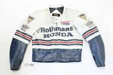 Rare Vintage Rothmans Honda HRC Bolder Leather Riding Racing Jacket Suit