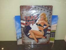 Ready for take off Embossed metal sign for the Silver Wings 1947 made in Germany