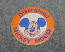 VINTAGE DISNEYLAND MICKEY MOUSE IRON ON FABRIC PATCH 2 3/4""