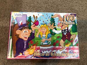 Alice in Wonderland 100 Piece Jigsaw Puzzle Vista 2000 Complete Vintage
