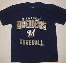 MLB Milwaukee Brewers Youth T-Shirt  SIZE YOUTH SMALL!!! NWOT !!!! NO DEFECTS