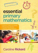 Essential Primary Mathematics by Caroline Rickard 9780335247028 | Brand New