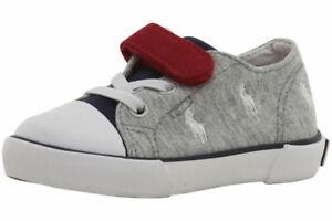 Polo Ralph Lauren Toddler Boy's Kody Grey/Navy Sneakers Shoes Sz: 4T