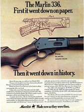 1976 Print Ad of Marlin Model 336 Rifle 1893 patent figure magazine firearm