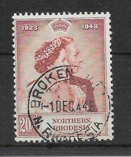 Northern Rhodesia superb RSW used CDS Broken Hill pmk [s38]
