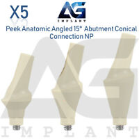 5 Peek Anatomic Angled Abutment 15° NP Conical Connection Dental Implant