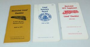 Lot of Three Lionel Inventory/Checklists !