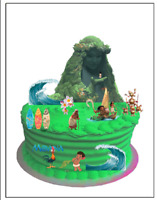 MOANA EDIBLE BIRTHDAY WAFER CARD CAKE SCENE DECORATION (uncut)
