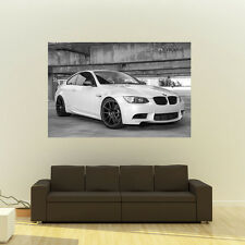 BMW E92 M3 on Strasse Wheels B&W Giant HD Poster Huge 54x36 inch Print