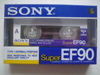 SONY Super EF90 BLANK Audio TAPE/Cassete SEALED