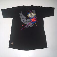 New VTG 1991 (L) HARLEY DAVIDSON Montreal Canada Official Shirt Maple Leaf
