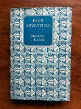 Edmund Hillary 'High Adventure' 1956 with jacket Everest/mountaineering (634)