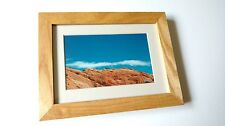 "My Original 4x6 Print and Handmade 6""x8"" Stained Frame, Utah"