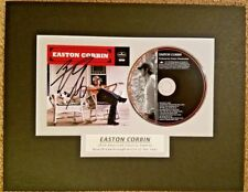 Easton Corbin Auto Signed CD Matted - Ready to Frame