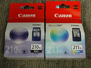 Set of 2 Genuine CANON Pixma PG-210XL Black & CL-211XL Color Ink Cartridges
