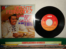 """VICENTE FERNANDEZ DE QUE TE QUIERO TE QUIERO MEXICAN 7"""" PS 1976 RANCHERA MEXICO"""