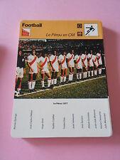 Football  Le Pérou en CM  Fiche Card 1978
