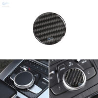 Real Carbon Fiber Center Gear Control Panel Knob Cover For Audi A4 B9 2017 2018+