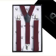 Men's Burgundy Y2.5cm Braces Suspenders