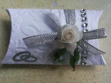 Gastgeschenk Hochzeit,Geburtstag,Silber Hochzeitstag mit 5 Mandeln und Spruch